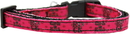 Mirage Pet Products 125-064 SM Girls Rock Nylon Ribbon Dog Collar Sm