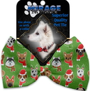 Mirage Pet Products 1276-BT Christmas Dogs Pet Bow Tie