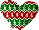 Mirage Pet Products Chevron Christmas Trees Stuffing Free Heart Dog Toy