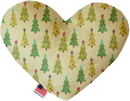Mirage Pet Products Cutesy Christmas Trees Stuffing Free Heart Dog Toy