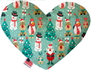 Mirage Pet Products Frosty and Friends Stuffing Free Heart Dog Toy