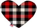 Mirage Pet Products Red and White Buffalo Check Heart Dog Toy