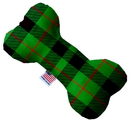 Mirage Pet Products 1305-TYBN10 Green Plaid 10 Inch Bone Dog Toy