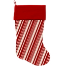 Mirage Pet Products 1309-STCK Classic Candy Cane Stripes Christmas Stocking