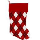 Mirage Pet Products 1311-STCK Candy Cane Argyle Christmas Stocking