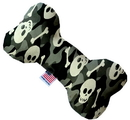 Mirage Pet Products 1340-SFTYBN8 Gray Camo Skulls 8 inch Stuffing Free Bone Dog Toy