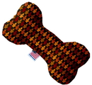 Mirage Pet Products 1349-SFTYBN10 Autumn Leaves 10 inch Stuffing Free Bone Dog Toy