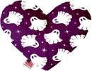 Mirage Pet Products Ghosts on Purple Stuffing Free Heart Dog Toy
