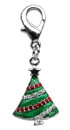 Mirage Pet Products 25-18 TRE Holiday lobster claw charms / zipper pulls Christmas Tree