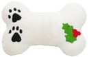 Mirage Pet Products 40-03 BN Plush Christmas Dog Toy with Squeaker Holly Bone