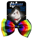 Mirage Pet Products 48-01 Dog Bow Tie Rainbow