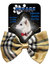 Mirage Pet Products 48-05 Dog Bow Tie Plaid Cream