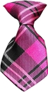 Mirage Pet Products 49-08 Dog Neck Tie Plaid Pink
