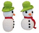 Mirage Pet Products 500-008 Holiday Knit Knack Frost The Snowman Organic Small Dog Toy