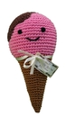 Mirage Pet Products 500-019 Knit Knacks Scoop the Ice Cream Cone Organic Cotton Small Dog Toy