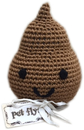Mirage Pet Products 500-111 DOO Knit Knacks Doodie the Poo Organic Cotton Small Dog Toy