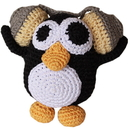Mirage Pet Products 500-111 HPG Knit Knacks Hipster Penguin Organic Cotton Small Dog Toy
