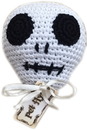 Mirage Pet Products 500-111 SKL Knit Knacks Skully the Skull Organic Cotton Small Dog Toy