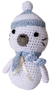 Mirage Pet Products 500-111 STS Knit Knacks Sammy the Seal Organic Cotton Small Dog Toy