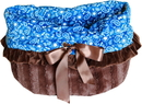 Mirage Pet Products 500-116 Blue Western Reversible Snuggle Bugs Pet Bed, Bag, and Car Seat All-in-One