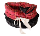 Mirage Pet Products Plaid Reversible Snuggle Bugs Pet Bed, Bag, and Car Seat All-in-One