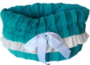 Mirage Pet Products 500-151 TQ Aqua Reversible Snuggle Bugs Pet Bed, Bag, and Car Seat All-in-One