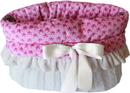 Mirage Pet Products 500-152 LPK Light Pink Skulls Reversible Snuggle Bugs Pet Bed, Bag, and Car Seat All-in-One