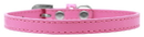 Mirage Pet Products 509-1 BPK-12 Omaha Plain Puppy Collar Bright Pink Size 12