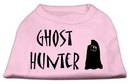 Mirage Pet Products 51-13-03 XSLPK Ghost Hunter Screen Print Shirt Light Pink with Black Lettering XS