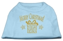 Mirage Pet Products 51-132 XXLBBL Golden Christmas Present Dog Shirt Baby Blue XXL