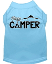 Mirage Pet Products 51-185 BBLXXL Happy Camper Screen Print Dog Shirt Baby Blue XXL