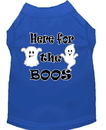 Mirage Pet Products 51-191 BLLG Here for the Boos Screen Print Dog Shirt Blue Lg
