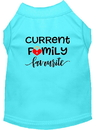 Mirage Pet Products Family Favorite Screen Print Dog Shirt