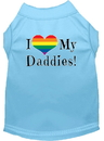 Mirage Pet Products 51-213 BBLXL I heart my Daddies Screen Print Dog Shirt Baby Blue XL