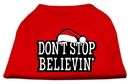 Mirage Pet Products 51-25-03 MDRD Don't Stop Believin' Screenprint Shirts Red M