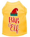 Mirage Pet Products 51-411 YWXXL Big Elf Screen Print Dog Shirt Yellow XXL
