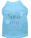 Mirage Pet Products 51-421 BBLLG Snow Cute Screen Print Dog Shirt Baby Blue Lg