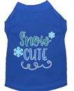 Mirage Pet Products 51-421 BLSM Snow Cute Screen Print Dog Shirt Blue Sm