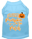 Mirage Pet Products 51-426 BBLMD Cutest Pumpkin in the Patch Screen Print Dog Shirt Baby Blue Med