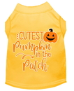 Mirage Pet Products 51-426 YWXL Cutest Pumpkin in the Patch Screen Print Dog Shirt Yellow XL