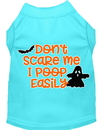 Mirage Pet Products 51-427 AQMD Don't Scare Me, Poops Easily Screen Print Dog Shirt Aqua Med