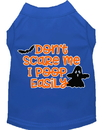 Mirage Pet Products 51-427 BLMD Don't Scare Me, Poops Easily Screen Print Dog Shirt Blue Med