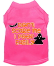 Mirage Pet Products 51-427 BPKMD Don't Scare Me, Poops Easily Screen Print Dog Shirt Bright Pink Med