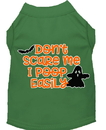 Mirage Pet Products 51-427 GRMD Don't Scare Me, Poops Easily Screen Print Dog Shirt Green Med