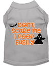 Mirage Pet Products 51-427 GYMD Don't Scare Me, Poops Easily Screen Print Dog Shirt Grey Med