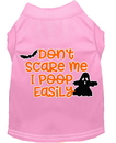 Mirage Pet Products 51-427 LPKMD Don't Scare Me, Poops Easily Screen Print Dog Shirt Light Pink Med