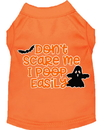 Mirage Pet Products 51-427 ORMD Don't Scare Me, Poops Easily Screen Print Dog Shirt Orange Med
