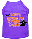 Mirage Pet Products 51-427 PRMD Don't Scare Me, Poops Easily Screen Print Dog Shirt Purple Med