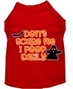 Mirage Pet Products 51-427 RDMD Don't Scare Me, Poops Easily Screen Print Dog Shirt Red Med