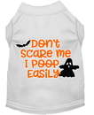 Mirage Pet Products 51-427 WTLG Don't Scare Me, Poops Easily Screen Print Dog Shirt White Lg